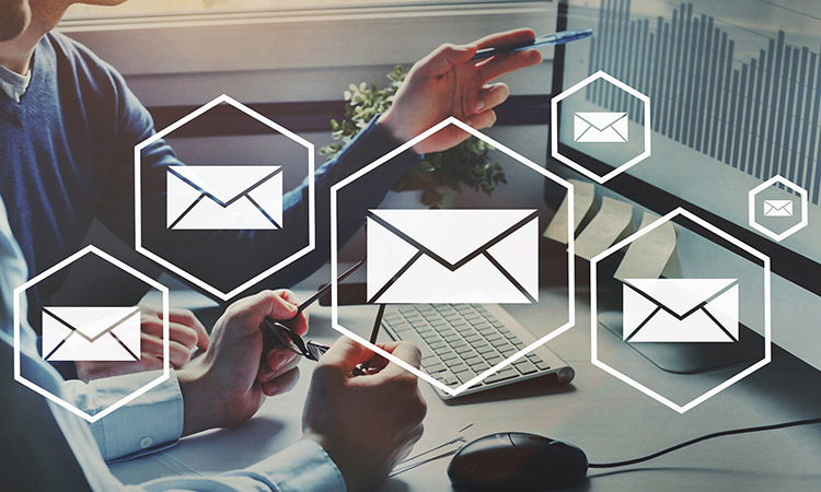 business newsletter, email marketing concept