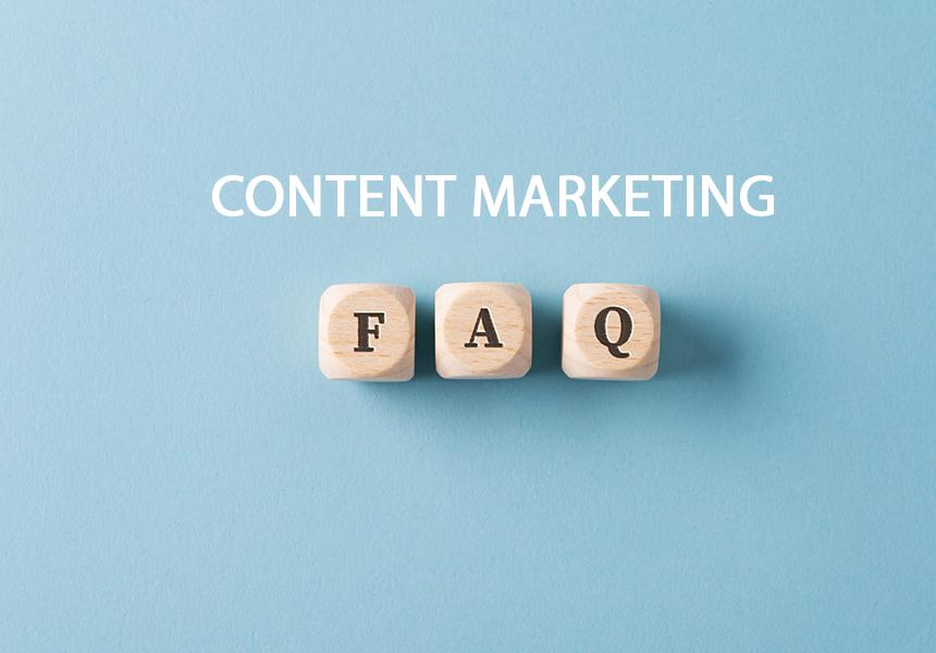 FAQ sign over light blue background