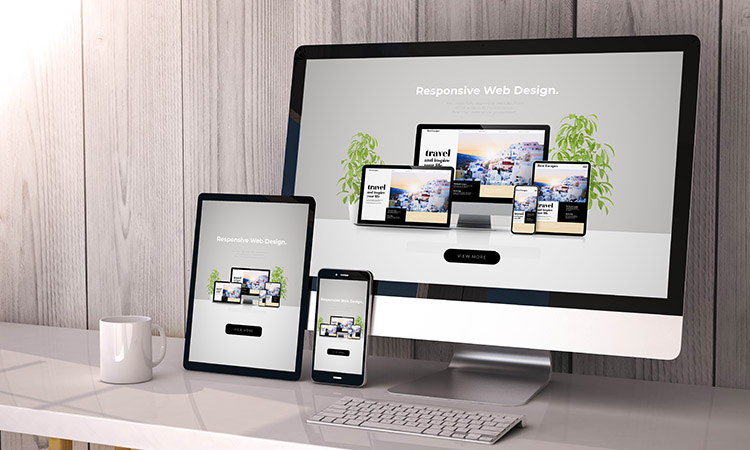 devices responsive on workspace cool website design